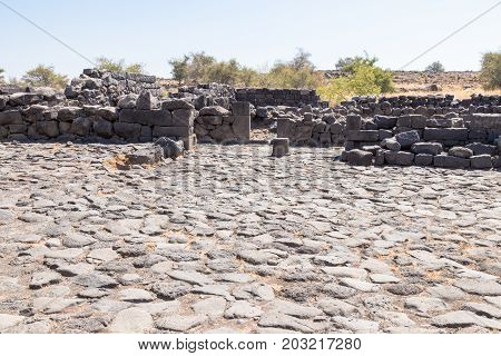 Ruins Of The Ancient Hebrew City Korazim (horazin, Khirbet Karazeh), Destroyed By An Earthquake In T