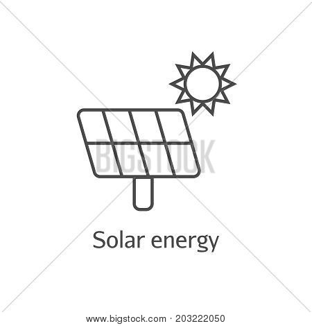 Ecology Concept. Eco Solar Battery Panel Icon.