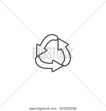 Recycling ecology thin line icon. Protection of the environment and nature linear sign. Ecological symbol for infographic website or app.
