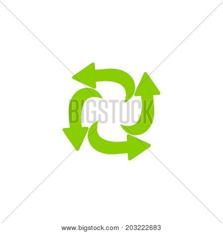 Recycling Ecology Thin Line Icon.