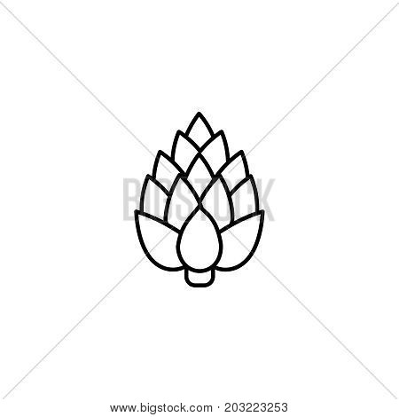Artichoke Thin Line Vector Icon. Isolated Vegetables Linear Style For Menu, Label, Logo. Simple Vege