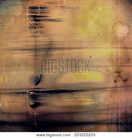 Decorative vintage texture or creative grunge background with different color patterns