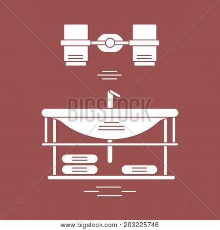 Cute Vector Illustration With Bathroom Elements. Bathroom Interior Design.