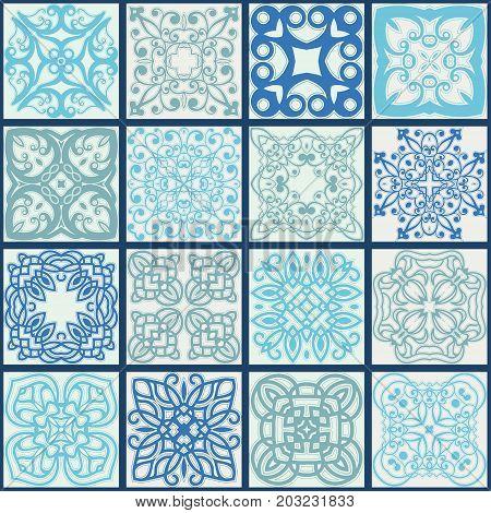 Colorful Ceramic Tile. Vintage Turkish Pattern. Template For Ceramic Tile, Wallpaper, Linoleum, Text
