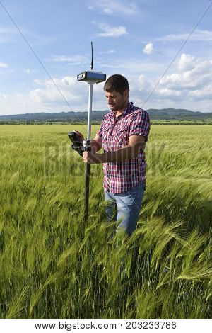 Wheat Controller Engineer Geodesy Survey Field Industry