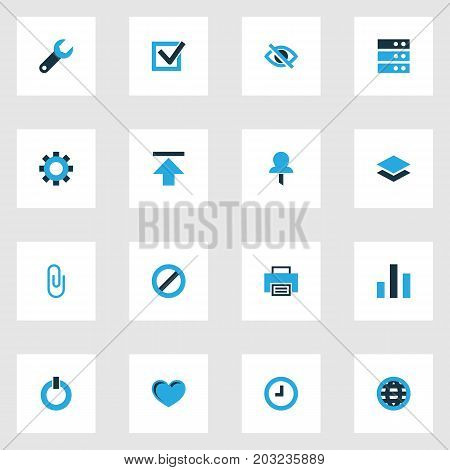 User Colorful Icons Set. Collection Of Conceal, Special Processor, Clip And Other Elements