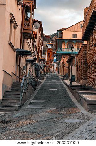 Nice view on Tbilisi old streets. Georgia