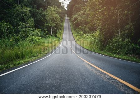 Landscape road paved road Rural Roadside View Mountain View. Road transport road