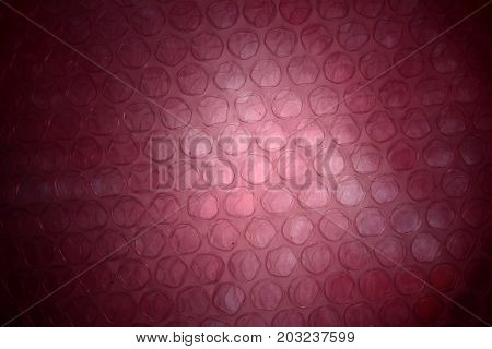 The  Texture Of Plastic Wrapper And Red Light