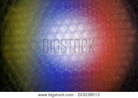 The  Texture Of Plastic Wrapper And Color Light