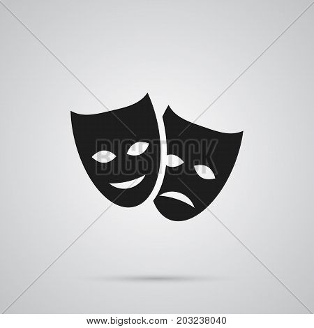 Vector Theater Element In Trendy Style.  Isolated Masks Icon Symbol On Clean Background.