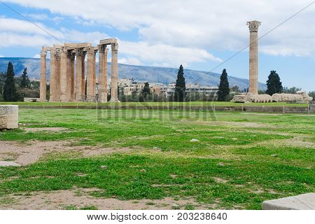 Temple of the Olympian Zeus, Athens Greece