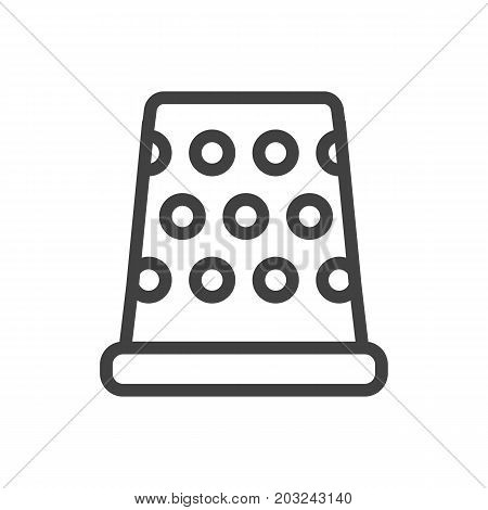 Vector Tremble Element In Trendy Style.  Isolated Metal Outline Symbol On Clean Background.