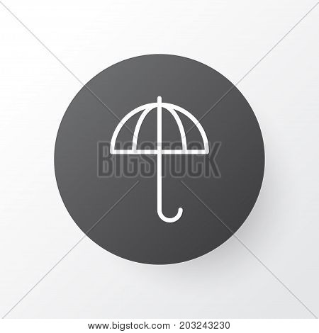 Premium Quality Isolated Gingham Element In Trendy Style.  Parasol Icon Symbol.