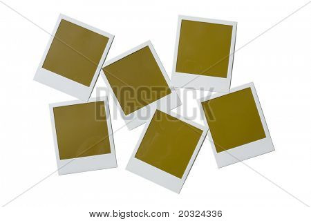 Blank poloroid film isolated on a white background