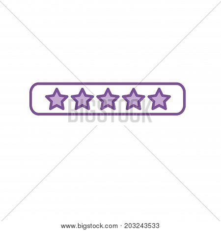 silhouette rating stars bar to choose the favorite vector illustration