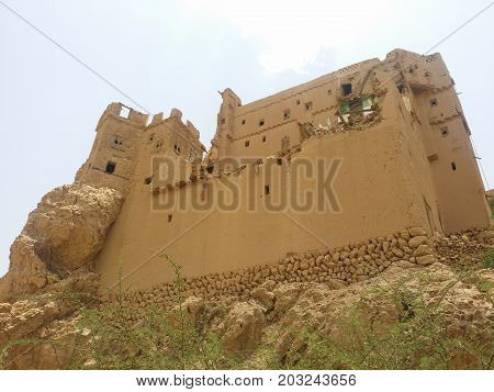 Very old building in the south of Yemen country