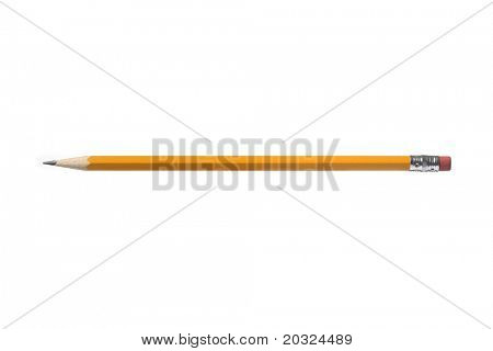 Pencil with even lighting isolated on a white background
