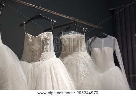 Selection Of Handmade White Wedding Gowns