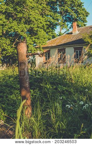 Old Administrative House In Polish Style In The Village Of Vidzy, Vitebsk Region