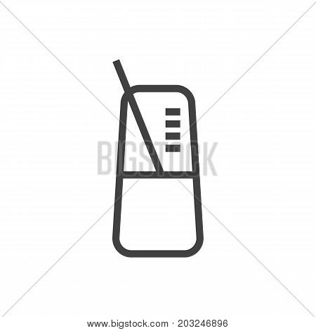 Vector Pace  Element In Trendy Style.  Isolated Metronome Outline Symbol On Clean Background.