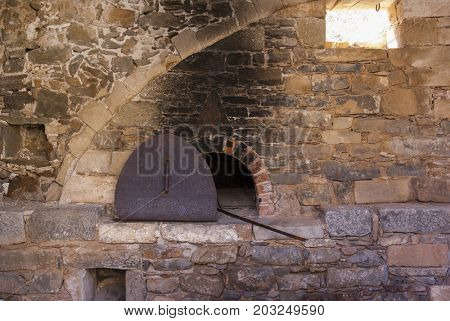 Hearth. Fortress of the island of Spinalonga. Leprosarium. Crete, Greece.