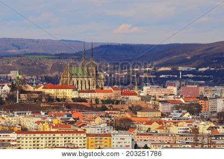 Brno Czech republic March 20 2017: Roman Catholic parish at St. Peter and Paul in Brno Czech republik