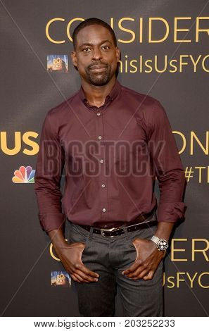 LOS ANGELES - AUG 14:  Sterling K Brown at the FYC Panel Event For 20th Century Fox And NBC's