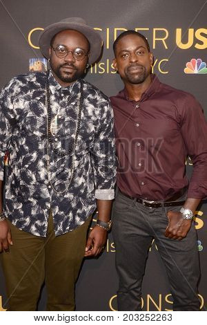 LOS ANGELES - AUG 14:  Brian Tyree Henry, Sterling K Brown at the FYC Panel Event For 20th Century Fox And NBC's