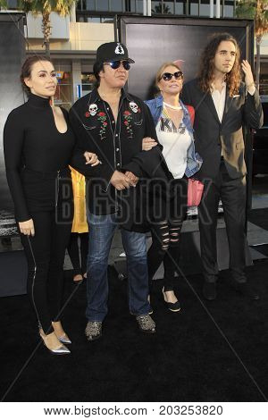 LOS ANGELES - SEP 5:  Sophie Simmons, Gene Simmons, Shannon Tweed, Nick SImmons at the