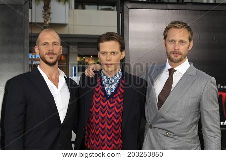 LOS ANGELES - SEP 5:  Gustaf Skarsgard, Bill Skarsgard, Alexander Skarsgard at the