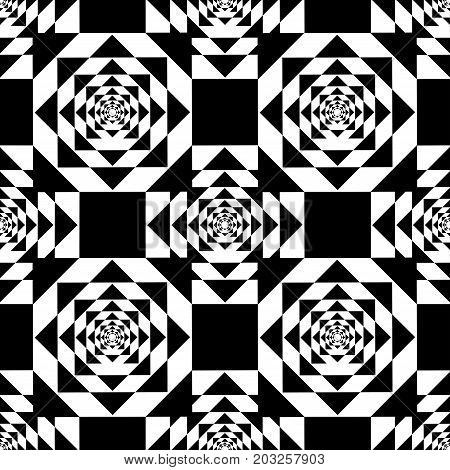Black Kaleidoscope Mirage on White Background. Vector Illustration.