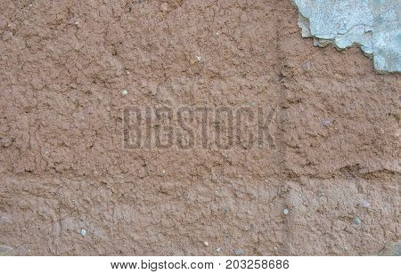 The Texture Of The Old Clay Wall