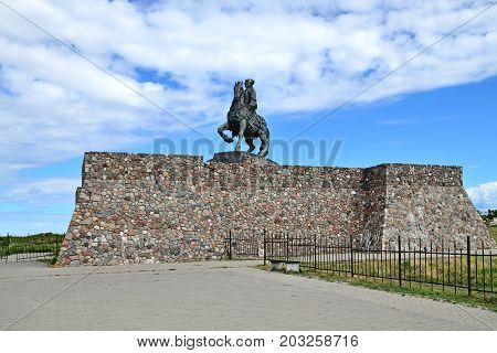 Equestrian statue of Empress Elizabeth Petrovna. Baltiysk until 1946 Pillau Russia