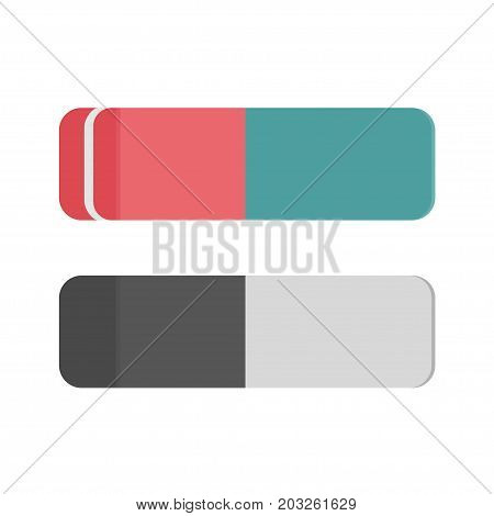 School rubber icon, Eraser office tool, education symbol. Vector