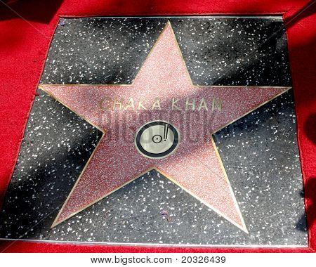 LOS ANGELES - MAY 19:  Chaka Kahn's Walk of Fame Star at the Chaka Kahn Hollywood Walk of Fame Star Ceremony at Hollywood Blvd on May 19, 2011 in Los Angeles, CA.