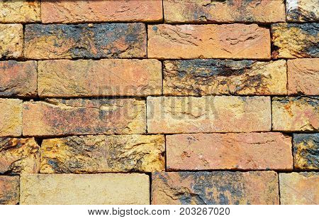 Colorfull Old Luxury European Ceramic Clinker BrickTextured Wall Background