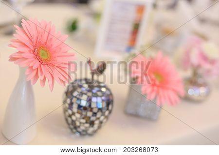 Close Up Of Pink Flower Arangement
