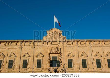 Flag Of Malta. Valletta, Malta