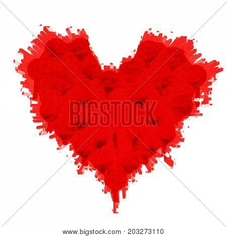 heart of the spots on a white background