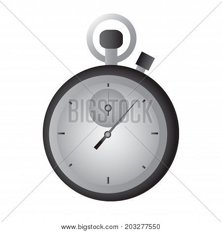 Isolated chronometer icon on a white background, Vector illustration