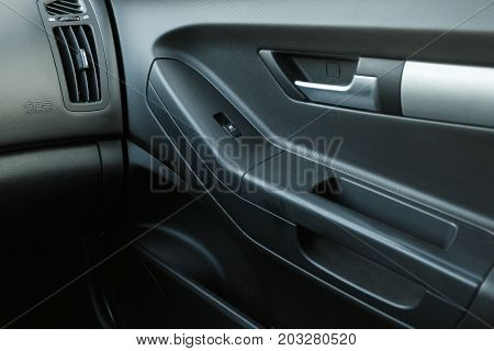 Car door inside the car interior close