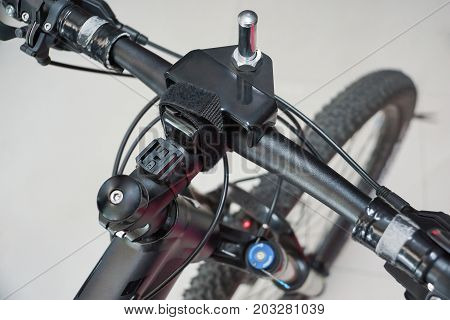 Tuning handlebar to fit the front wheel with laser