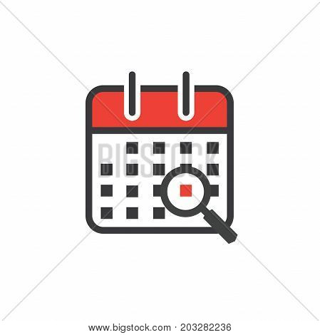 Calendar image with specific date chosen with magnifying glass