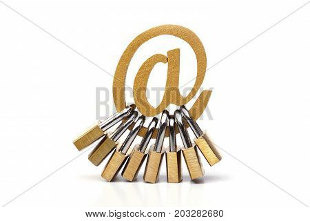 Email security and data encryption to prevent phishing and other online threat attack