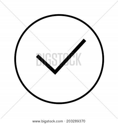 Outline Check Mark icon isolated on white background