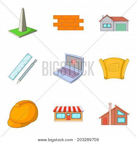 Guard icons set. Cartoon set of 9 guard vector icons for web isolated on white background