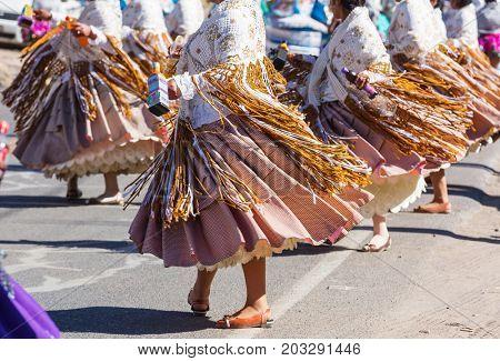 Authentic peruvian dance