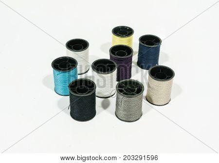 Black Plastic Rolls Of Spooling Threads