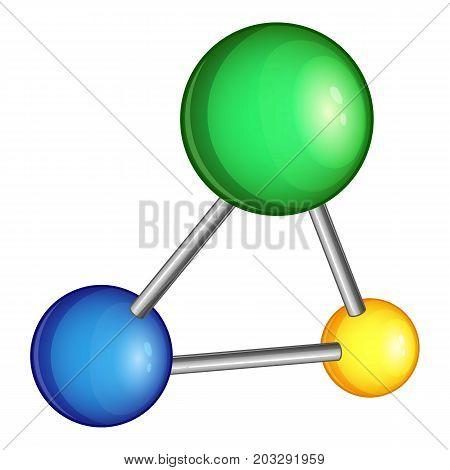 Chemistry molecule icon. Cartoon illustration of chemistry molecule vector icon for web
